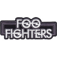 Foo Fighters Iron-On Patch Silver Letters Logo