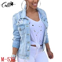 2017 New Fashion Arrival Women Denim Jackets Vintage Casual Coat Female Jean Jacket for Outerwear Women Basic Coats with Pocket