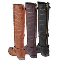 Glaze by Adi Women's Tall Back-zip Boots | Overstock.com