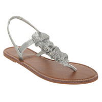 Glitter Ruffle T-Strap Sandal | Shop Shoes at Wet Seal