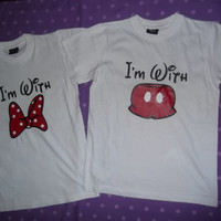 Free Two Day Shipping For US Im With Mickey Im With Minnie Shirts