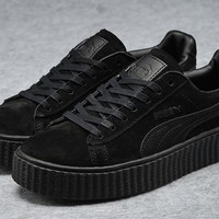 Fenty Rihanna by Puma Creepers All Black Suede Men's Women's Shoes