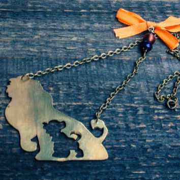The Lion King necklace, Disney Jewelry, Hakuna Matata Jewelry, Disney Necklace, Simba necklace,Women necklace, FREE SHIPPING