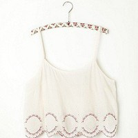 Free People Clothing Boutique > Embroidered Hem Crop Cami