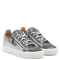 Giuseppe Zanotti Gz Frankie Crocodile Printed Leather Low-top Sneaker