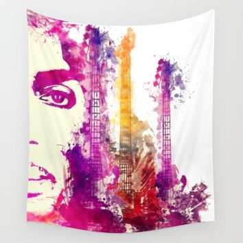 Prince and guitars Wall Tapestry by GreatArtGallery