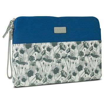 Greene + Gray Zippered Sleeve Case for Microsoft Surface Pro, Blue Floral