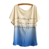 Ombre Casual T-shirt