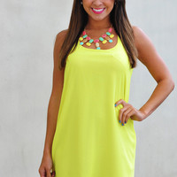 Dreaming Of You Dress: Neon Chartreuse   Hope's