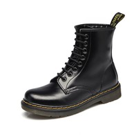2017 Genuine leather women boots for winter warm women shoes  feminina female motorcycle ankle boots fashion boots women