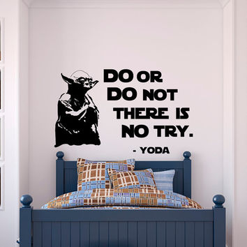 Star Wars Quotes Wall Decal Do Or Do Not From Fabwalldecals On