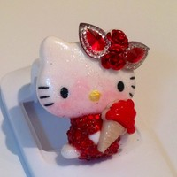 Ice Cream Red Hello Kitty Resin Embellished Cabochon Deco Den DIY