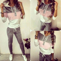 Casual 2 pcs Hoodies Outfit
