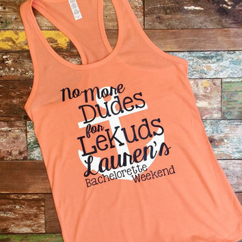 Custom bachelorette tank top, Personalized bachelorette weekend tank top, Monogrammed tank tops, Bridesmaid gifts, Bachelorette party ideas