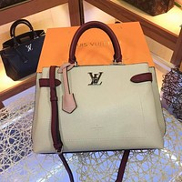 lv louis vuitton women leather shoulder bags satchel tote bag handbag shopping leather tote 94