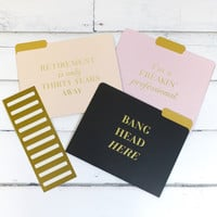 Freakin' Professional Folders {9 Count}
