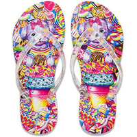Lisa Frank Flip Flop with Authentic Lisa Frank Prints