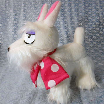 Ao No Blue Exorcist inspired Mephisto Pheles dog form (35 cm high) for cosplay (1/1 scale to show's size) made of faux fur