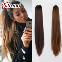 """20"""" 130g claw clip ponytail hairpieces fake hair ponytails Straight hair extensions synthetic kanekalon artificial hair ponytail"""