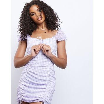Picnic Dreaming Ruched Mini Dress
