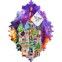 Ginette Fine Art Saint Basils Cathedral Russia Baroque Magnet Board