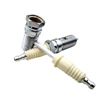 Quality Metal Pipe Weed Tobacco Smoking Pipes Gift Mill Smoke Narguile Weed Grinder Freestyle Spark Plug Pipe