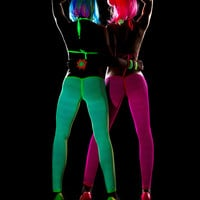 Day Glow Fishnet Leggings-EDM Wear-Rave Clothes