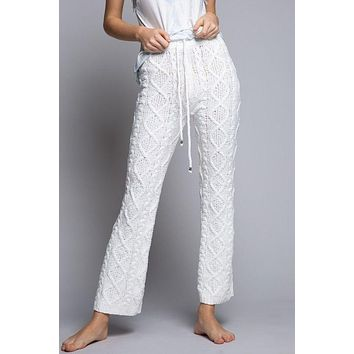 Cable Knit Lounge Pants