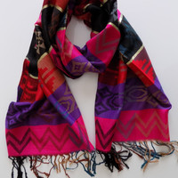 Oversize Multicolor Pashmina Scarf, Ombre Rainbow Scarf Shawl Spring Fall Winter Fashion Scarf Women Fashion Accessories Christmas Gifts