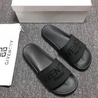Cool Black Givenchy Slipper Sandals Shoes for Womens Mens Summer Gift