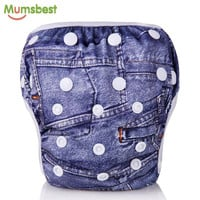 Waterproof Cloth Diaper Cover - Baby Swim Diapers Are One Size, Adjustable and Washable