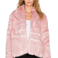 State of Being Powderpuff Faux Fur Coat in Pink