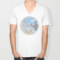 hello, are you there? Unisex V-Neck by Artemio Studio