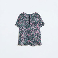 Combination printed top