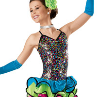 Colorful Sequin Wire Skirt Dress -Weissman Costume