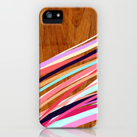 Wooden Waves Coral iPhone & iPod Case by House of Jennifer