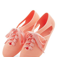 ModCloth Pastel Merry-Go-Round Town Flat in Peach