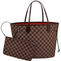 Louis Vuitton Neverfull MM Damier Ebene Bags Handbags Purse N41358