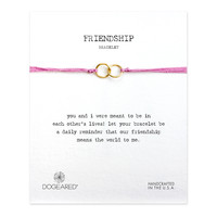 Friendship Double-Linked Rings Pink Bracelet, Gold Dipped| Dogeared