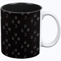 Halloween Witch Elements Cat Cross Moon Star All Over Coffee Mug