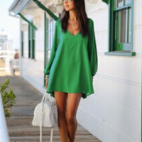 Summer Dress Loose Sexy V Neck Strapless A-line Casual