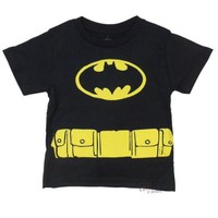 Batman Symbol With Cape DC Comics Toddler Boys T Shirt