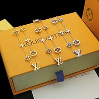 lv louis vuitton woman fashion accessories fine jewelry ring chain necklace earrings 91