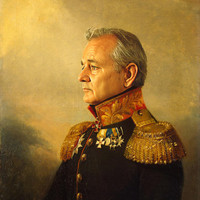 Bill Murray - replaceface Art Print by Replaceface | Society6