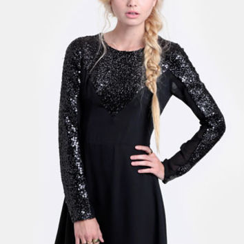 Young Love Sequined Dress By Keepsake