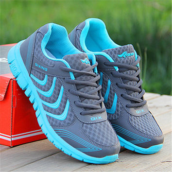 Casual woman Breathable shoes zapatillas mujer new fashion flat with women shoes tenis fashion style mesh casual women shoes