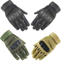 Tactical Gloves Shooting Impact Protective Combat Hard Knuckle