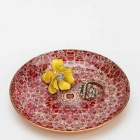 Magical Thinking Floral Medallion Catch-All Dish- Red Multi One