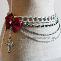 Belly Chain with Bow and cross
