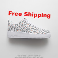 """[ Free  Shipping ]Nike Air Force 1 AF1 """"Just do it"""" Running Sneaker"""